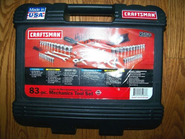 CRAFTSMAN EMPTY BLACK TOOL CASE BOX FROM 83 PC KIT NO TOOLS BOX ONLY