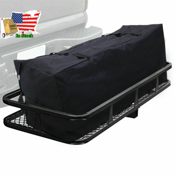 Folding Rack Cargo Basket Trailer Hitch Mount Luggage Carrier for Car SUV 500lbs $132.97