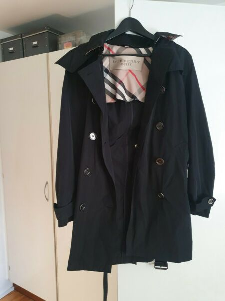Burberry women#x27;s black rain trench coat $310.00