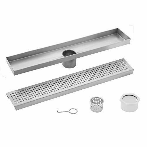 CAHABA SP26 26quot; Stainless Steel Square Grate Linear Shower Drain