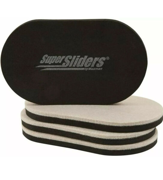 """SuperSliders Reusable Furniture Movers for Hardwood 3.5"""" x 6"""" Linen 4 Pack $9.99"""