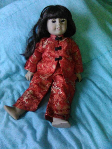 vintage pleasant company american girl samantha with Chinese New Year outfit