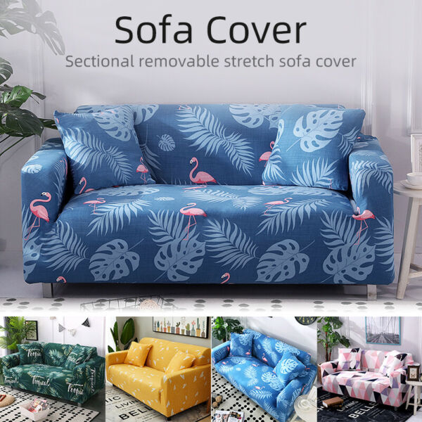 1 4 Seater Slipcover Sofa Covers Spandex Stretch Couch Cover Furniture Protector $26.99