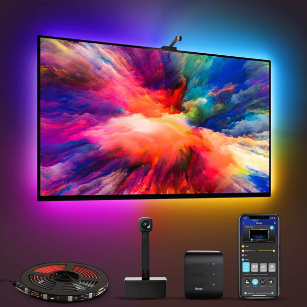 Govee Immersion WiFi TV LED Backlights with Camera RGBIC Ambient TV Lighting fo $117.00