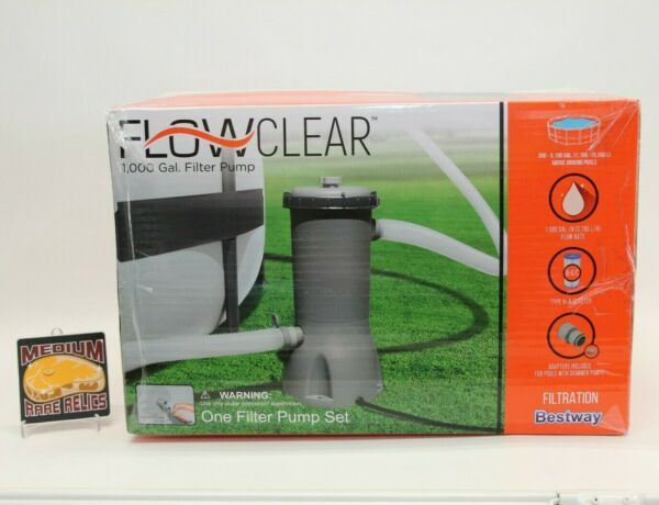 NEW Bestway Flowclear 1000 GALLON GPH Above Ground Swimming Pool Filter Pump $134.99