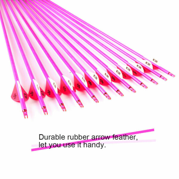 6pcs 7.8mm 30quot; Carbon Spine 340 Hunting Pink Arrows For Female Archery Sports $15.99