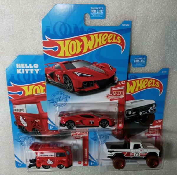 2021 Hot Wheels RED EDITIONquot;DODGE CORVETTE KOOL KOMBIquot; NICE CARDS Lot of 3 $22.95