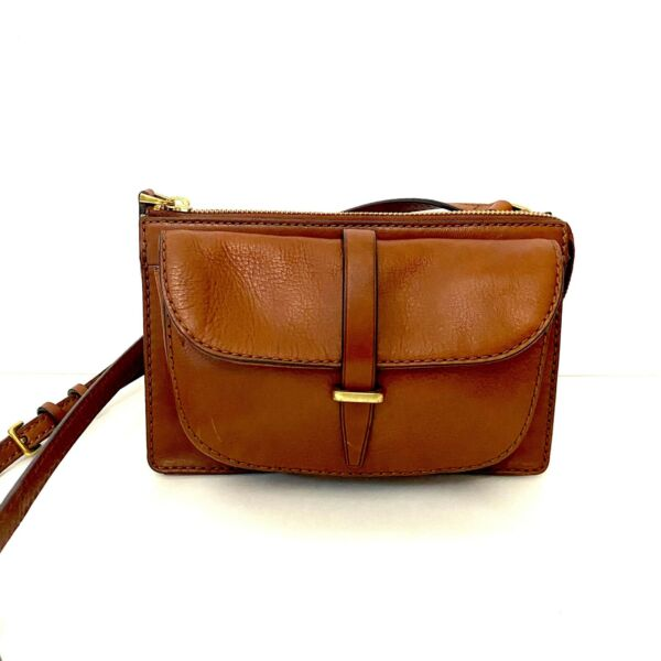 Fossil Brown Leather Crossbody Small Bag $45.00