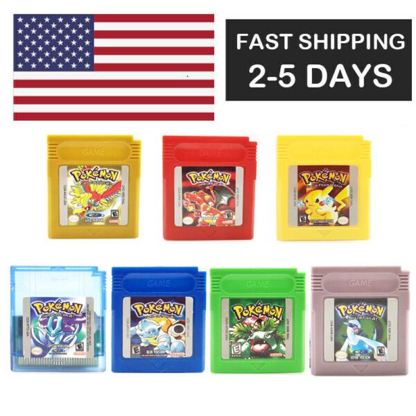 Pokemon Gold Red Blue Green Yellow Crystal Silver GB GBC GBA Gameboy game card $99.99