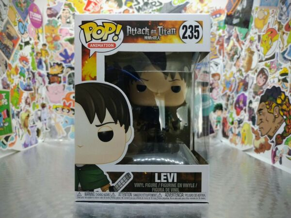 Funko Pop Attack On Titan Levi #235 WITH FREE POP PROTECTOR