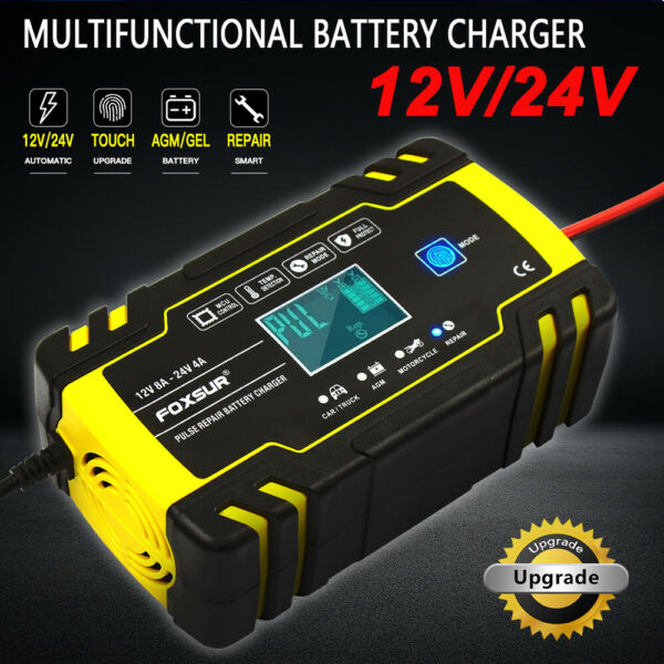 Intelligent Automatic Car Battery Charger 12 24V 8A Pulse Repair Starter AGM GEL $32.99