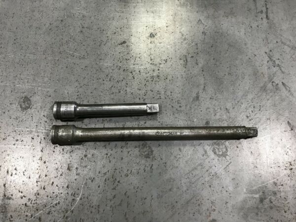LOT OF TWO VINTAGE TOOL CRAFTSMAN 1 2 EXTENSIONS MADE IN USA 1930s 1940s