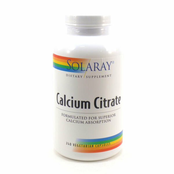 DENTED Calcium Citrate 250 mg By Solaray 240 Vegetable Caps $18.39