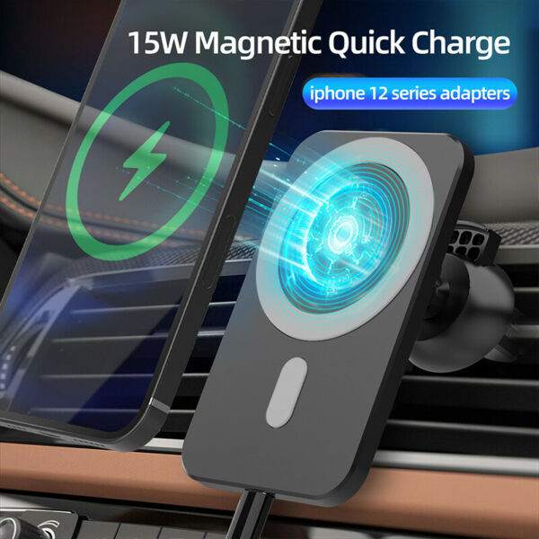 Car Wireless Fast Charger Magnetic Phone Mount Holder for iPhone 12 Pro MAX Mini $14.95