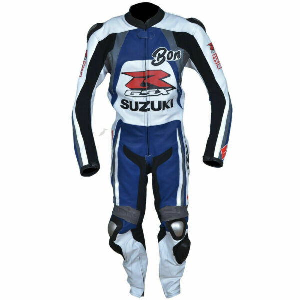 Suzuki GSXR Heavy Bike Suit Racing Sports Trouser Protected Pure Leather Jacket $299.99