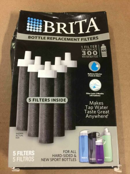 Brita Hard Sided Bottle amp; Soft Sided Sport Bottle Replacement Filters 5 Ct.