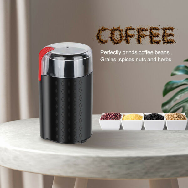 Coffee Grinder Electric Spice Grinder 200W Stainless Steel Blade for Coffee Bean