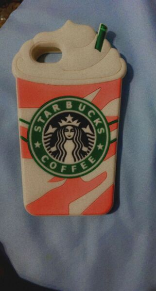 2 phone cases 1 Starbucks and 1 marble good condition