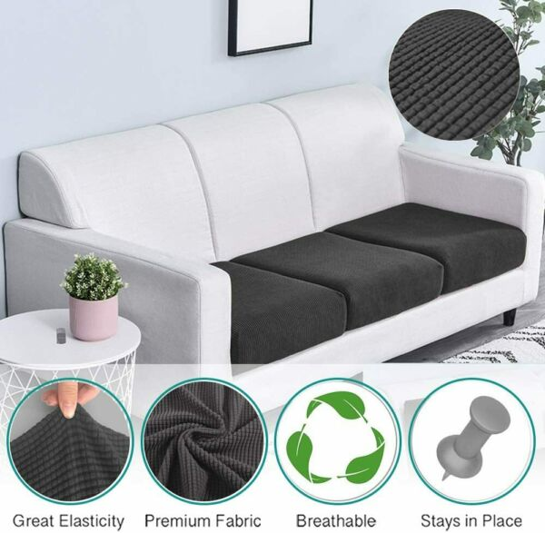 1 Pc Soft Stretch Chair Cushion Cover Couch Sofa Slipcovers Furniture Protector