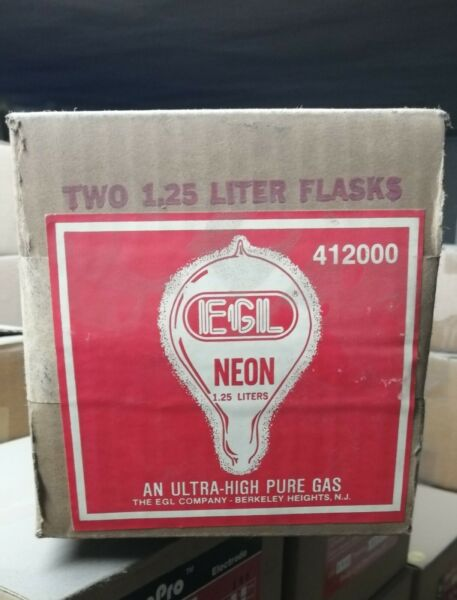 New Vintage Glass Neon Sign Tube Glass Gas Blowing Flask Pack of 2 $90.00