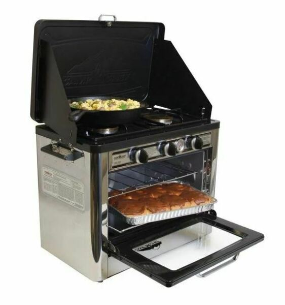 Camp Chef Outdoor Camping Oven and 2 Burner Stove