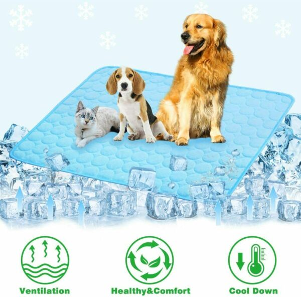 M L XL Cooling Mat for Dogs and Cats Self Cooling Dog Bed Summer Sleeping Pad $9.99
