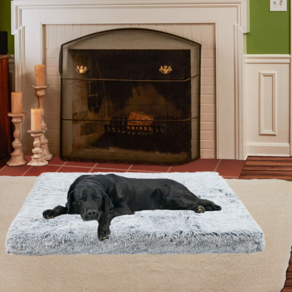 Orthopedic Dog Bed for Jumbo Dogs Waterproof Dog Beds Plush Joint Relief Pet Bed $26.95