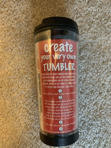 NEW Starbucks Tumbler Create Your Own amp; Decorate With Pictures