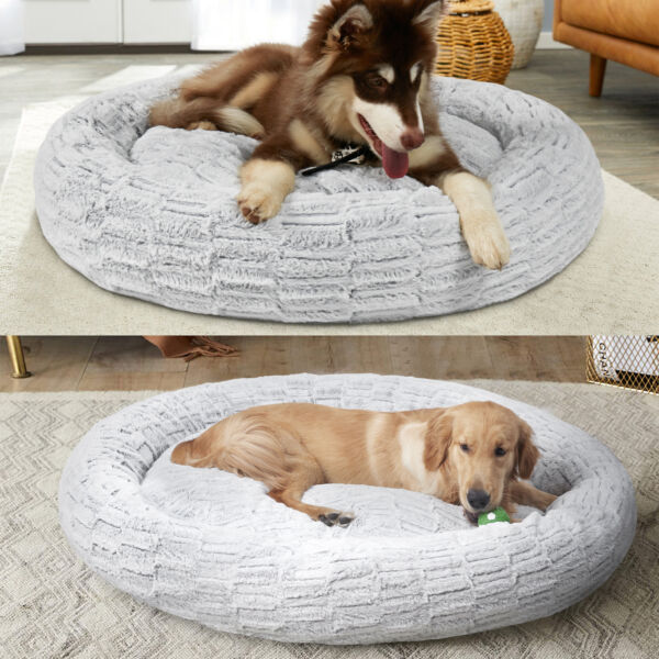 Dog Bed Cat Bed Calming Dog Beds for Small Medium Large Jumbo Pets Anti Anxiety $25.96