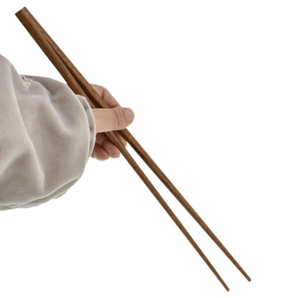 42cm Chinese Japanese Chopsticks Extra Long Wooden for Frying Kitchen Cooking