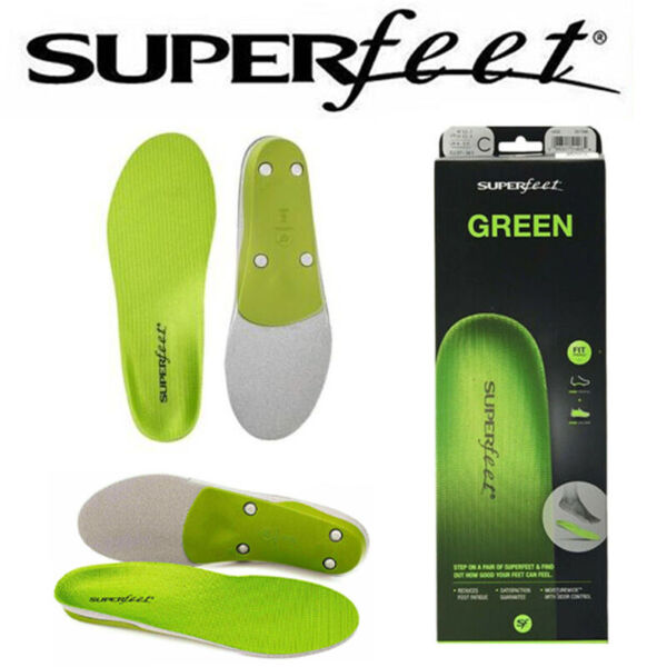 Super Foot Green Insole Professional Grade High Arch Orthopedic Insole Size US