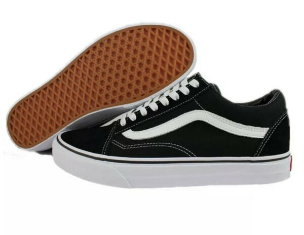 Vans Old Skool Classic Black White Low Canvas Suede Skate Shoes Off Wall $53.00