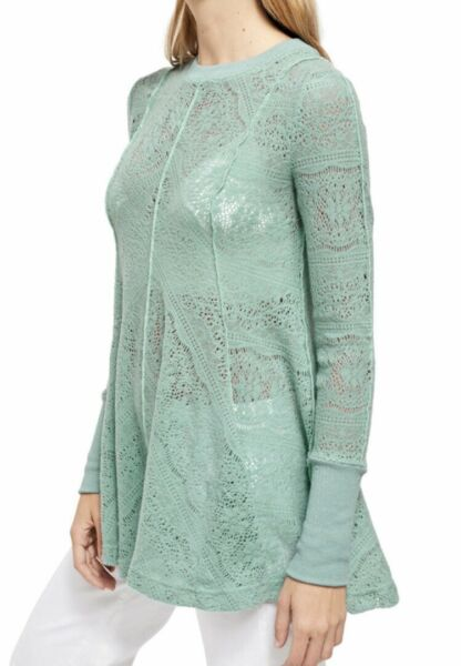Free People **BRAND NEW**Coffee In The Morning Tunic ASTRAL SEA Sz XS MSRP $128