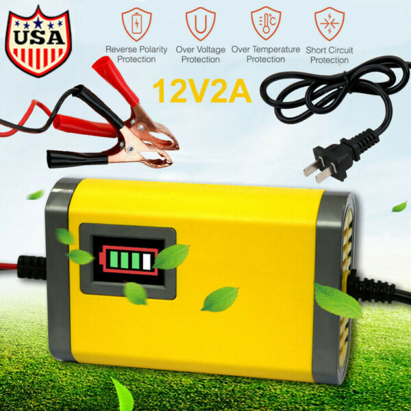 12V Car Battery Charger Maintainer Auto Trickle RV for Tender Truck Motorcycle $12.19