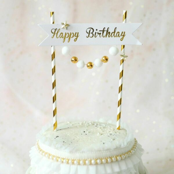 Happy Birthday Bunting Cake Topper Cake Flags Party Supplies Baking Decoration