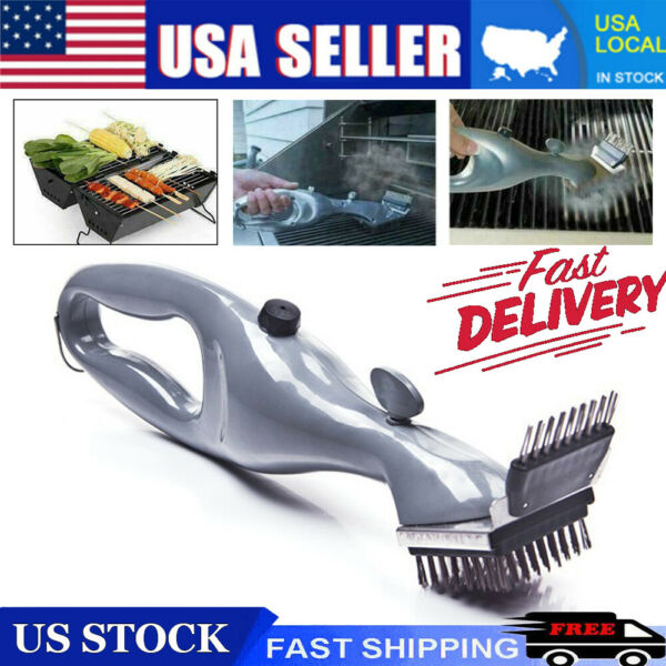 USA Grill Daddy Original Steam Cleaning Barbeque Grill Brush For Charcoal Clean