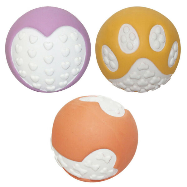 3pcs Pet Squeaky Toy Dog Chew Toy Fun Latex Creative Pet Supply $9.94