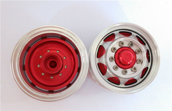1 14 Scale RC TAMIYA DIY Truck Model Upgraded Spare Parts Red Front Wheel Hub D $47.40