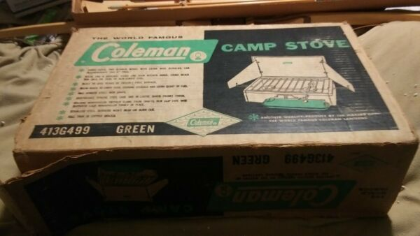 Coleman Stove 413G499 Two Burner Green w Box amp; INSTRUCTIONS PROPANE CONVERTED