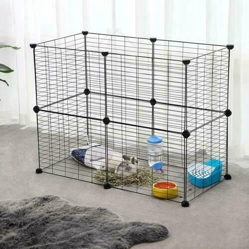 36 Panel Metal Tall Dog Playpen Large Crate Fence Pet Cat Exercise Cage USA