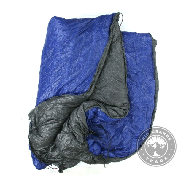 USED Outdoor Vitals Down UnderQuilt for Ultralight Backpacking in Blue 15°F $200.00