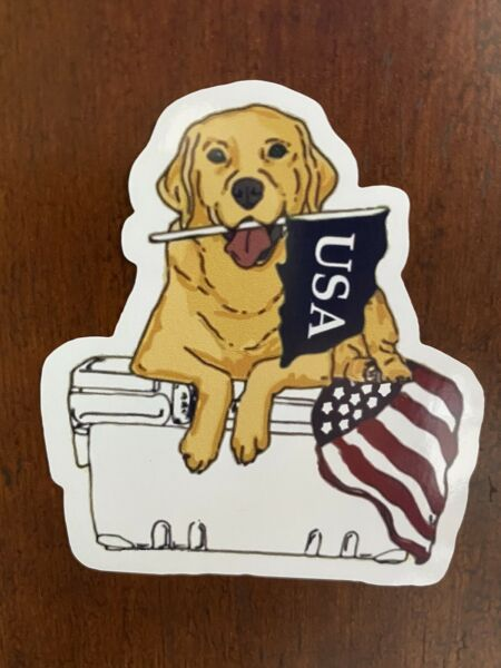 Dog On Cooler Sticker USA Waterproof Buy Any 4 for $1.75 Each Storewide $2.95