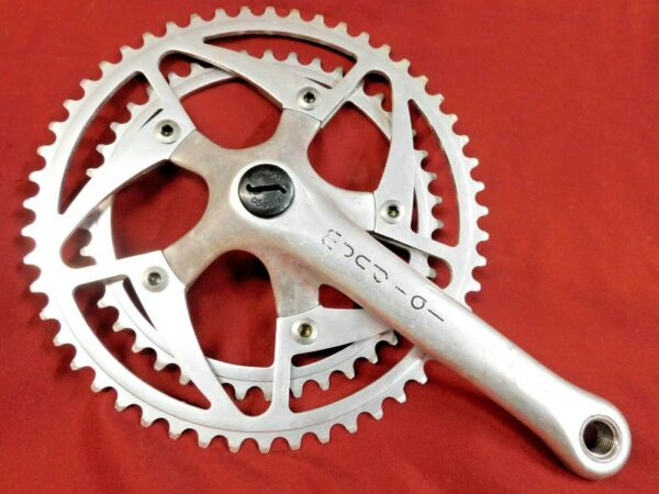 1980#x27;s Ofmega Mundial Right Crank Arm amp; Chainrings 52 42 170 x 118 mm BCD
