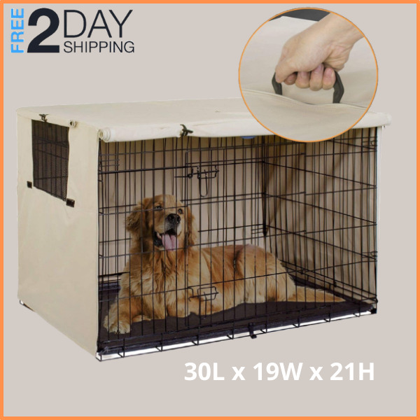 Small Durable Dog Crate Cover With Divider Double Door Cover Pet Kennel Cage 30quot; $34.99