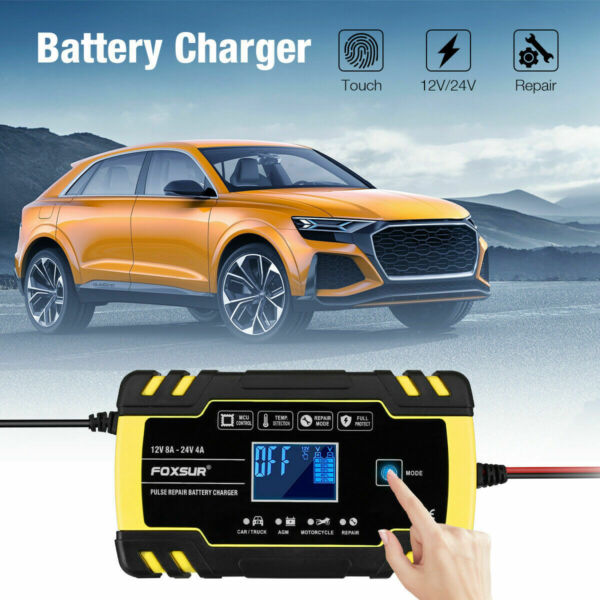 12V Car Battery Charger Maintainer Auto Trickle RV For Tender Truck Motorcycle $8.99