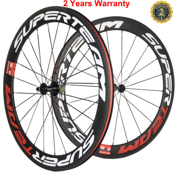 Light Weight 60mm Carbon Wheelset FrontRear Carbon Cycle Wheels 700C UD Matte $370.00