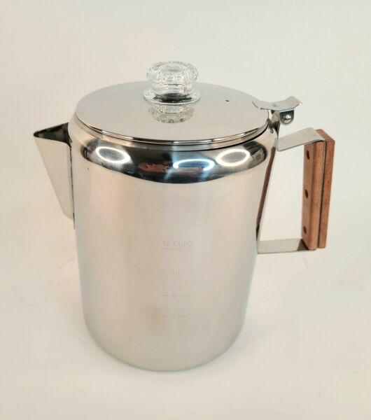 COLETTI Bozeman Camping Coffee Pot Campfire or Stove Top Coffee Making – 12 CUP