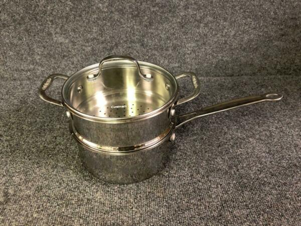 Cuisinart Stainless Steel 2 Qt Saucepan with Steamer Insert and Glass Lid