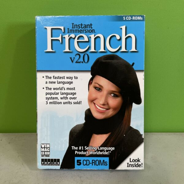 Instant Immersion Learn to Speak and Talk French 2.0 5 CD Set REDUCED price $8.99