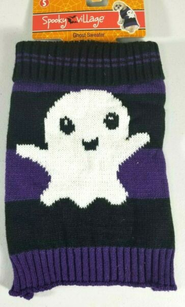 Ghost Sweater Black amp; Purple Halloween Costume Dogs Dog Puppy Size XS amp; S $8.79